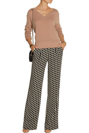 Diane von Furstenberg Elena printed stretch-silk wide-leg pants