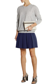 Diane von Furstenberg Gemma pleated stretch-jersey mini skirt