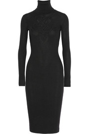 Diane von Furstenberg Appliquéd ribbed wool midi dress