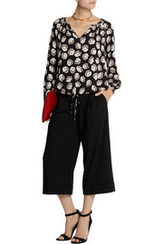 Diane von Furstenberg Printed stretch-silk blouse