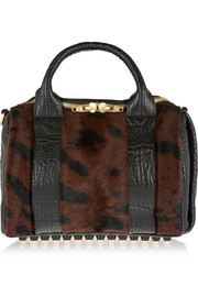 Alexander Wang Rockie textured-leather and calf hair tote