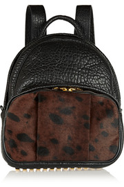 Alexander Wang Dumbo textured-leather and calf hair backpack