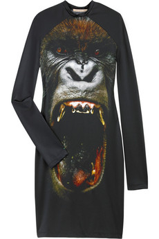 Christopher Kane Gorilla print jersey dress