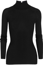 T by Alexander Wang Ribbed-knit turtleneck sweater