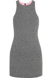 T by Alexander Wang Mesh-bonded neoprene mini dress