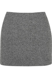T by Alexander Wang Mesh-bonded neoprene mini skirt