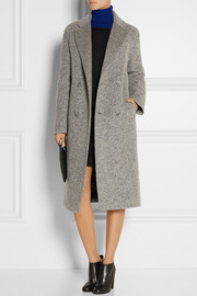 T by Alexander Wang Donegal reversible wool-blend felt coat