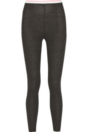 T by Alexander Wang Ribbed-knit leggings