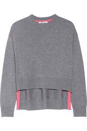 T by Alexander Wang Marled wool and cashmere-blend sweater