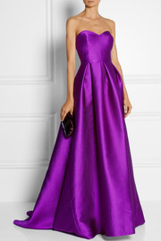 Lela Rose Embossed satin gown