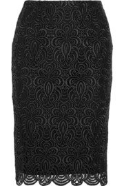 Lela Rose Guipure lace pencil skirt