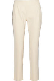 Lela Rose Caterine stretch-gabardine straight-leg pants