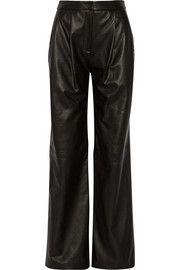 Adam Lippes Leather wide-leg pants