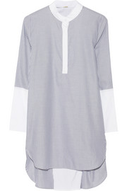 Adam Lippes Striped cotton-poplin tunic