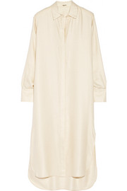 Adam Lippes Cashmere and silk-blend twill shirt dress