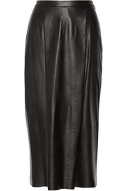 Adam Lippes Leather midi skirt