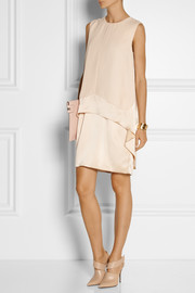 Narciso Rodriguez Silk-georgette and satin dress