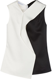 Narciso Rodriguez Two-tone satin top