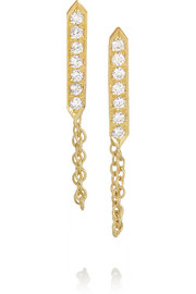 Halleh 18-karat gold diamond earrings