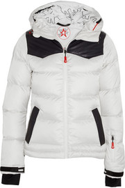 Perfect Moment Pirtuk leather-paneled quilted shell down jacket
