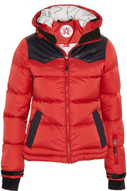 Pirtuk leather-paneled quilted shell down jacket