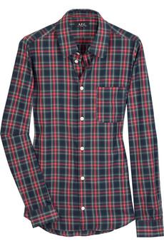 A.P.C.Cotton checked shirt