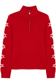 Star-intarsia merino wool sweater