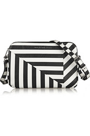Marc by Marc Jacobs Turn Around Kim striped textured-leather shoulder bag