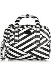 Marc by Marc Jacobs Turn Around striped textured-leather shoulder bag