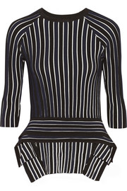 Jonathan Simkhai Asymmetric ribbed-knit top
