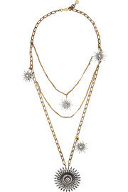 Lulu Frost Sun and Stars gold-plated crystal necklace