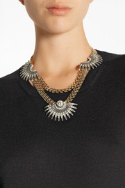 Lulu Frost Beacon gold-plated crystal necklace