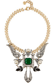 Lulu Frost Future gold-plated multi-stone necklace