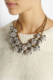 Lulu Frost Decade gold-plated, faux pearl and crystal necklace