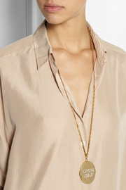 Lulu Frost Crystal Clear gold-plated crystal locket necklace