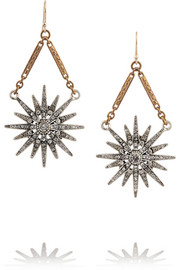 Lulu Frost Radiant gold-plated crystal earrings