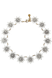 Lulu Frost Radiant gold-plated crystal necklace