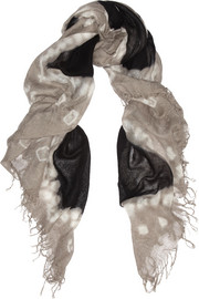 Chan Luu Tie-dye cashmere and silk-blend scarf