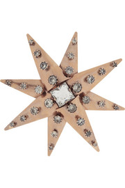VICKISARGE Rose gold-plated Swarovski crystal brooch