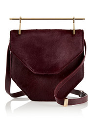 M2Malletier Amor Fati calf hair and leather shoulder bag
