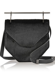 Amor Fati calf hair and leather shoulder bag