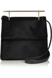 M2Malletier La Collectionneuse calf hair shoulder bag