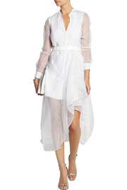 Theory Diaz silk-organza shirt dress