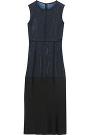 Theory Prax B silk-georgette and crepe dress