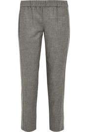 Theory Korene brushed-flannel tapered pants