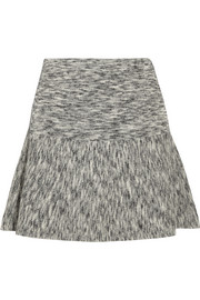 Theory Gida mélange stretch-wool mini skirt