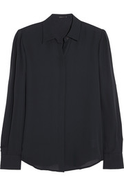 Theory Miska silk-georgette shirt