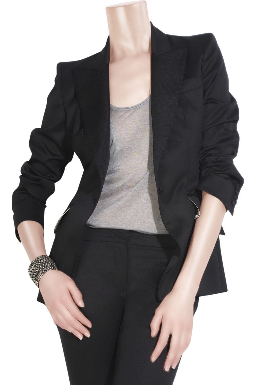 Alexander McQueen Wool-blend twill blazer