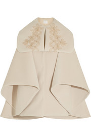 DELPOZO Embellished wool-blend felt coat