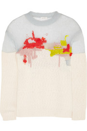 DELPOZO Embroidered mohair-blend sweater